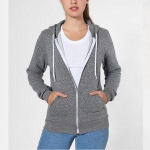 Well Loved American Apparel Grey Hoodie S